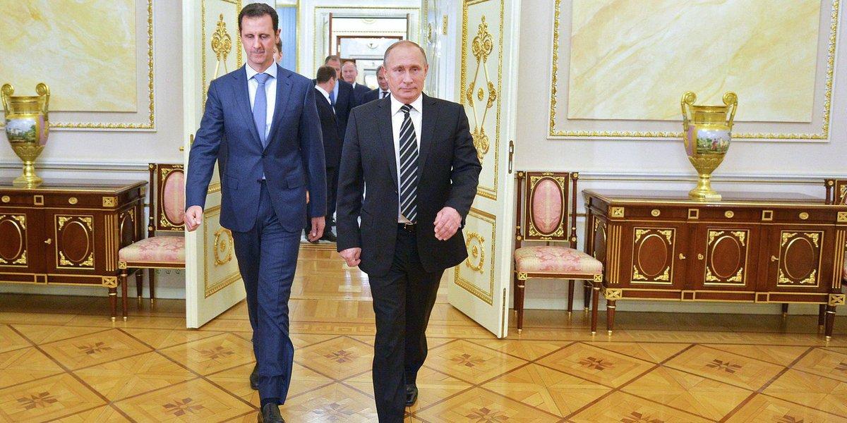 O Kremlin (sede da Presidência russa) informou que o presidente russo, Vladimir Putin, e o sírio, Bashar Al Assad, aliados de longa data, tinham concordado, durante uma conversa telefônica, com a retirada das forças russas do território sírio