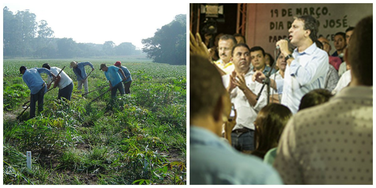 Ontem, Dia de São José, padroeiro do Ceará, o governador Camilo Santana anunciou um pacote de investimentos de mais de R$ 180 milhões em benefícios na área de abastecimento d'água e desenvolvimento rural. Agricultores e agricultoras de mais de vinte municípios foram contemplados com os projetos anunciados ontem