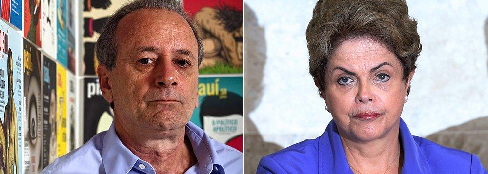 """Para o jornalista Mario Sergio Conti, embora o naufrágio soe inevitável, em suas últimas declarações, a presidente Dilma Rousseff transmitiu a convicção de que é inocente; """"Pode ter descumprido o que prometeu. Pode ter maus bofes. Pode ter cavado a própria cova. Mas, num mundo político esmerdeado de alto a baixo, Dilma não tem nódoa. Não roubou, e será julgada por muitos ladrões"""", diz"""