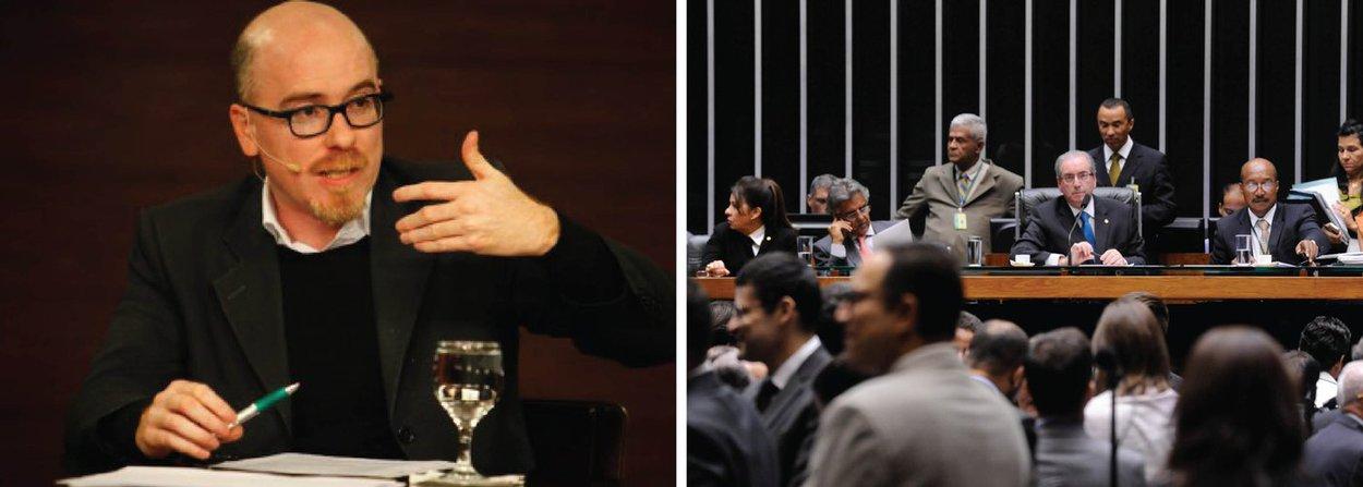 """O filósofo Vladimir Safatle afirmou, em entrevista à TV Brasil, que o Congresso Nacional se transformou uma espécie de """"sindicato de ladrões""""; para ele, a atual composição do parlamento nacional não tem a menor condição de julgar um pedido de impeachment da presidente Dilma Rousseff; """"Na comissão do impeachment, são 31 deputados indiciados. Como alguém indiciado pode julgar uma presidente da república? Fora que quem comanda tudo isso é o presidente da Câmara, que o procurador-geral da República classificou como um delinquente"""", disse"""