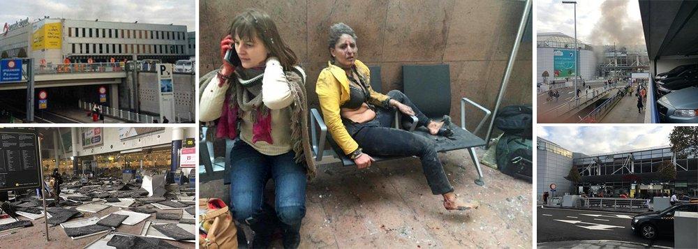 Dupla explosão no Aeroporto de Zaventem, em Bruxelas, e em uma estação de metrô deixou várias pessoas mortas e muitas feridas, informou a Polícia Federal belga; imagens mostram densa nuvem de fumaça saindo também de um dos terminais do aeroporto, enquanto dezenas de passageiros correm para o exterior do prédio com suas malas; as explosões ocorreram perto de uma porta de embarque para os Estados Unidos, onde estavam muitos passageiros;Bruxelas se tornou conhecida como um dos principais centros do terror islâmico, desde os atentados ao Bataclan em Paris