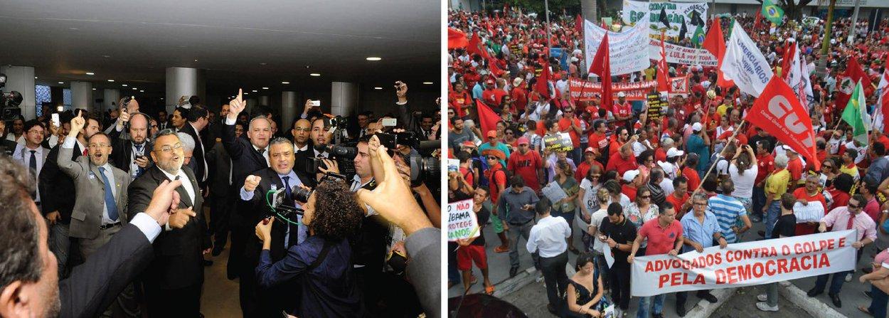 """Os movimentos de resistência se alastram e prometem não se desmobilizar enquanto não for votado o pedido de impeachment na Câmara; nesta terça,haverá piquetes no aeroporto de Brasília para receber os deputados que voltam dos estados com gritos de """"não vai ter golpe, vai ter luta""""; em São Paulo começou a ocupação """"permanente"""" da Praça do Patriarca por militantes da CUT, MST, MTST, CTB e outros movimentos sociais; no dia 31, manifestações em defesa da legalidade e contra o golpe devem acontecer em todos os estados"""