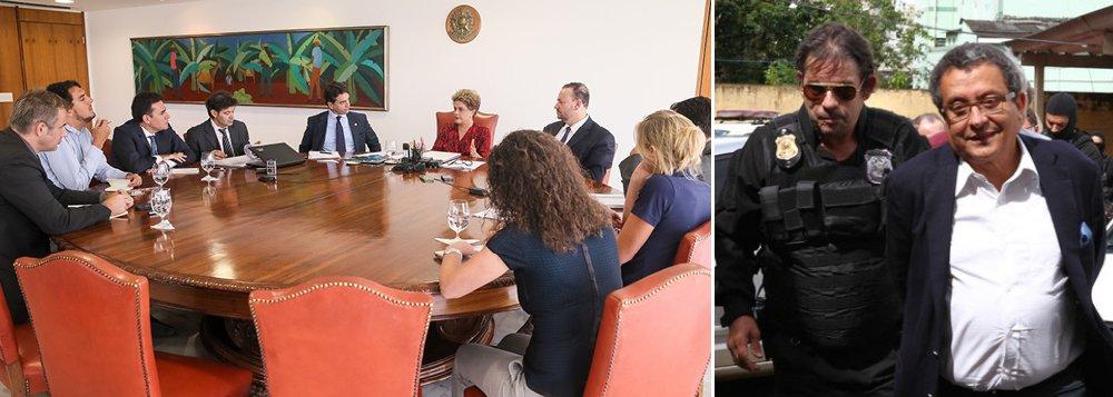 """A presidente Dilma Rousseff afirmou, a jornalistas estrangeiros, que sua campanha não recebeu recursos ilegais; ela disse que uma eventual delação do marqueteiro João Santana não envolverá seu nome; """"Eu não me preocupo. Eles não têm o que delatar da minha campanha. Essa delação eu quero ver. De repente, sai um boato e ele passa a ser verdade. Eu quero que me expliquem por que é que teria recursos não registrados do João Santana se eu lhe paguei 70 milhões"""", afirmou; Dilma lembrou que """"suas campanhas foram aprovadas pelo Tribunal Superior Eleitoral"""""""