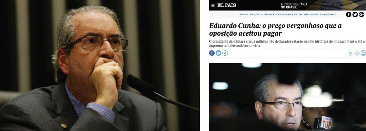 """Análise de Flávia Marreiro, do El País, ressalta que a oposição precisou se aliar a Eduardo Cunha (PMDB) para conseguir avançar na tentativa de destituição da presidente Dilma Rousseff; ela pontua, porém, que é """"vergonhoso"""" que as principais alianças da oposição tenham aceitado este acordo com Cunha, mesmo tendo ele uma ficha corrida que estarrece o país; """"Com a pouca qualidade da oposição, que nem na maior recessão em décadas conseguiu capitalizar apoio próprio relevante, seria impossível imaginar um trâmite tão célere e preciso do impeachment sem o maestro Eduardo Cunha. Réu na Lava Jato, com milhões não declarados na Suíça e gastos de sultão, está na posição central da legislação brasileira para por um mandatário nas cordas: a presidência da Câmara"""""""
