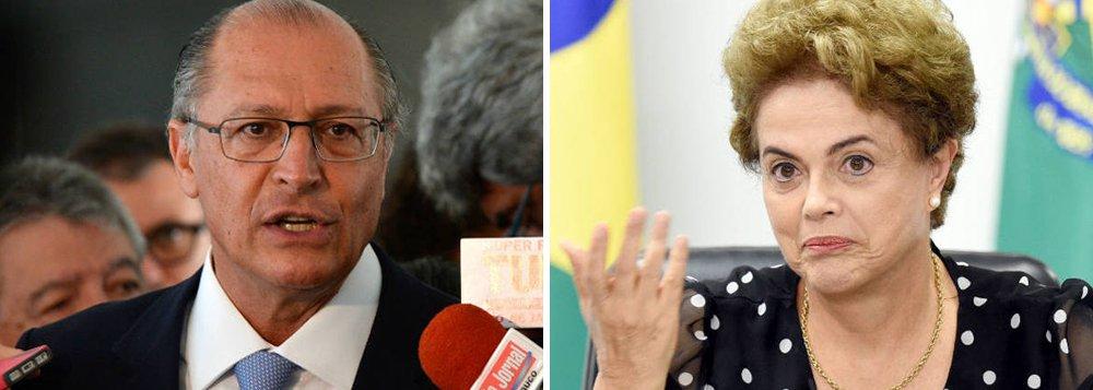 """Reportagem do Valor Econômico aponta que o governador de São Paulo deu um calote de R$ 332 milhões no Metrô, segundo dados que constam do balanço da própria empresa; Valor se refere à manobra de Alckmin como """"pedalada""""; apesar disso, em entrevista à Folha, o tucano defende saída da presidente eafirma que, feito, o """"afastamento de Dilma Rousseff é praticamente definitivo""""; ele atribui ainda ao """"lulopetismo a crise econômica e social mais grave dos últimos 80 anos""""; de olho em 2018, voltou a defender que os tucanos não indiquem nomes para um ministério de Temer, mas afirmou que seu rival José Serra é """"um grande quadro"""""""