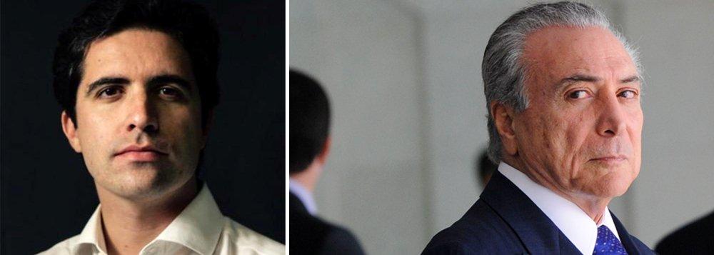 """Colunista Bernardo Mello Franco comenta pesquisa Datafolha para 2018 e ressalta que, de todos os nomes do principal cenário, o menos citado pelos eleitores é o que tem mais chances de assumir a Presidência; Michel Temer aparece com 1% das intenções de voto; """"sete em cada dez brasileiros apoiam o afastamento de Dilma, mas quase nenhum se empolga com o vice. É um cenário desalentador, porque a recessão não vai evaporar com o impeachment"""""""