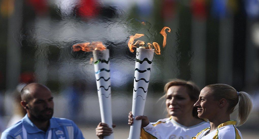 27 de Abril de 2016 - Cerimônia de entrega da chama olímpica no estádio Panatenaiko em Atenas Foto: Roberto Castro/ME