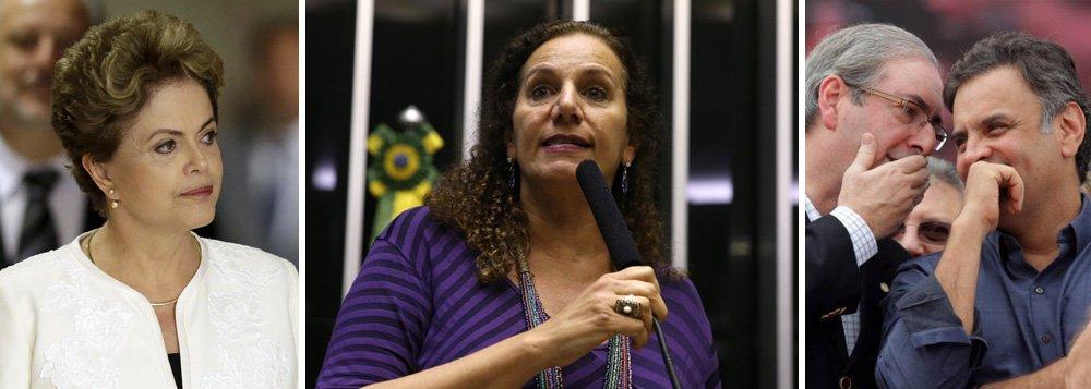 """Deputada Jandira Feghali, representante do PCdoB na comissão especial que analisará o pedido de impeachment, afirma em artigo que """"apontar para o impedimento é sinalizar afagos e tentativas"""" da sobrevivência do presidente da Câmara, Eduardo Cunha (PMDB-RJ), no Conselho de Ética junto à oposição no Parlamento; """"Aliás, essa é a mesma oposição que dividia almoços e jantares à paisana com Eduardo Cunha, na tentativa de avançar com o golpe"""", observa; para a parlamentar, """"a tentativa do impeachment é um erro grotesco do presidente e de todos aqueles que se perfilam ao golpismo. O impedimento de Dilma seria um ataque à Democracia, conquistada a sangue e luta de diversos brasileiros na História, além de um arremesso covarde do país ao abismo de incertezas e crises econômicas inimagináveis"""""""