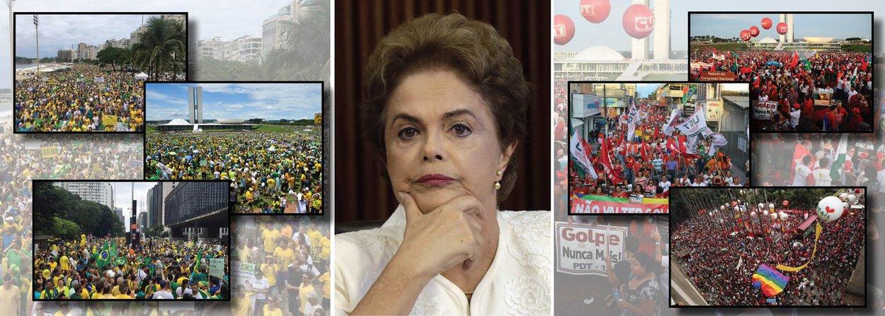"""""""O 'Não vai ter golpe' já triunfou como lema e como visão da crise atual do Brasil. Calou os lemas das marchas da direita, reduziu seus porta vozes ao silencio, foi murchando sua capacidade de mobilização, promovendo as condições de uma solução positiva da crise"""", diz o colunista Emir Sader; segundo ele, o impeachment não passará no Congresso e a presidente Dilma Rousseff cumprirá seu mandato até o fim; """"não vão derrubar a Dilma, não vai haver retrocesso e a mobilização popular se alastrou como ninguém imaginaria no Brasil de hoje"""""""