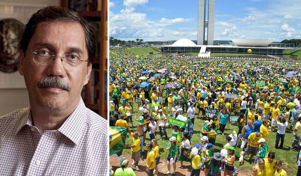 Está em curso um GOLPE DE ESTADO no Brasil, esse golpe tem por objetivo apear do poder a Presidente Dilma Rousseff, banir o Partido dos Trabalhadores e instalar uma velha ordem, valores fundamentalmente liberais e atender interesses essencialmente do mercado