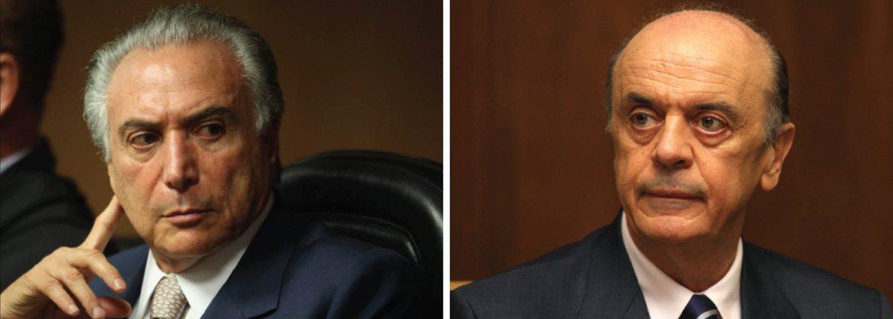"""Por meio do PMDB Nacional, o vice-presidente Michel Temer mandou um recado em alto e bom som para o senador José Serra (PSDB-SP): """"PMDB declara que Michel Temer não tem porta voz. Não discute cenários políticos para o futuro governo e não delegou a ninguém anúncio de decisões sobre sua vida pública"""", disse Temer; """"Quando, se tiver que anunciar algum posicionamento, ele mesmo o fará, pessoalmente, sem intermediários"""", completa;ao jornal Estado de S. Paulo, Serra atropelou a articulação entre PMDB e PSDB e já adiantou medidas que o eventual """"governo Temer"""" deveria tomar, como se comprometer a não concorrer à reeleição, não interferir nas disputas municipais deste ano, não promover uma caça às bruxas e montar um Ministério """"surpreendente"""""""