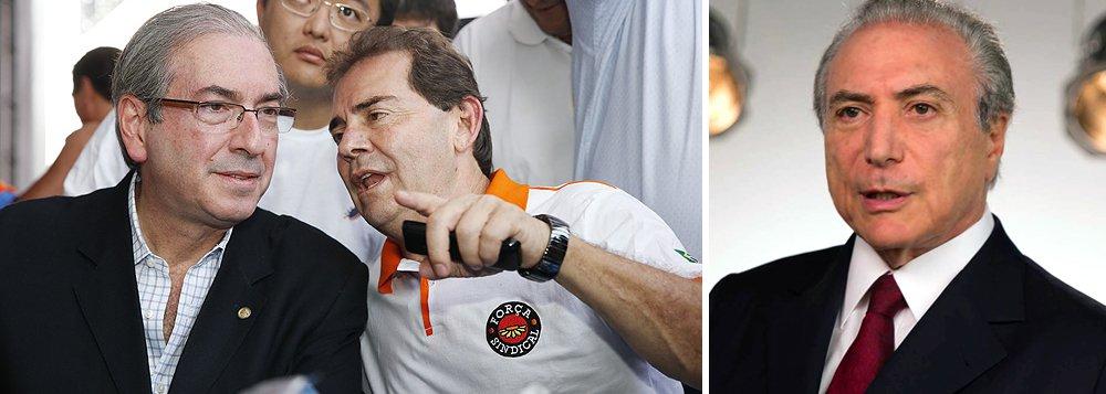 Acordo entre o PMDB e o Solidariedade prevê a entrega do Ministério do Trabalho ao sindicalista Paulinho da Força, que tem sido, ao lado do deputado Eduardo Cunha (PMDB-RJ), um dos principais articuladores do impeachment da presidente Dilma Rousseff; só não está definido se o cargo seria ocupado por Paulo Pereira da Silva ou por alguém indicado por ele, uma vez que o sindicalista é réu no STF, acusado de desvio de recursos do BNDES; agenda do Ministério prevê reforma trabalhista, com flexibilização da CLT, e apoio aos projetos de terceirização de mão-de-obra