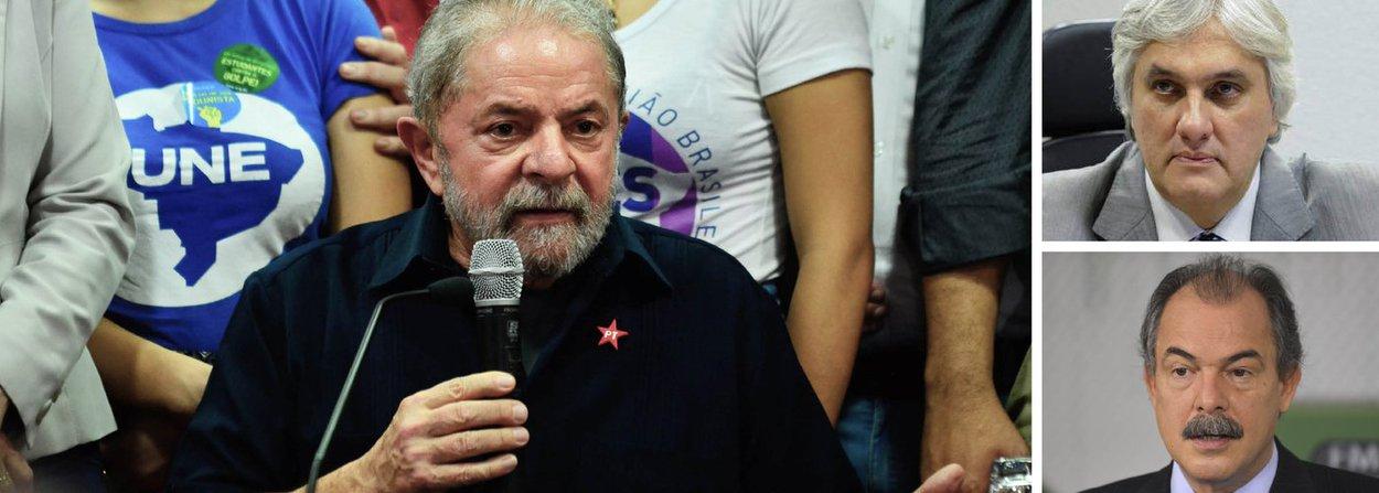 Avaliação no Palácio do Planalto é que o impacto da suposta gravação em que mostra o ministro Aloizio Mercadante oferecendo vantagens para que o senador Delcídio do Amaral não firme delação premida deve suspender, pelo menos por enquanto, a possibilidade de Lula assumir o ministério; governo também teme que a delação acelere o desembarque do PMDB; expectativa é de que o ministro saia do cargo e responda unicamente pelo ocorrido, de forma a preservar Dilma