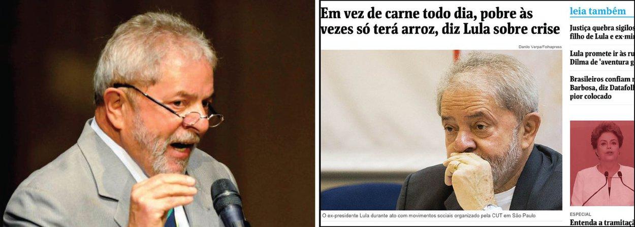 """Assessoria de imprensa afirma que jornal """"distorceu"""" a fala do ex-presidente ao reproduzir sua entrevista ao jornal espanhol El País; """"Agindo de má-fé, atribuiu ao ex-presidente uma fala que não existiu. Em nenhum momento, Lula afirmou que os pobres terão de deixar de comer carne para comer somente arroz durante a crise"""", rebate a nota, chamando a distorção de""""tradução criativa"""""""