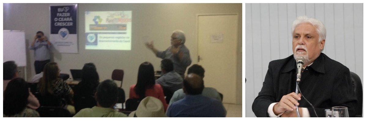 O encontro reuniu, em Limoeiro do Norte, os gestores de desenvolvimento econômico de municípios das regiões do Baixo Jaguaribe e Litoral Leste, econtou com a participação do superintendente do Sebrae Ceará, Joaquim Cartaxo, que falou sobre a importância dos pequenos negócios para o desenvolvimento dos municípios