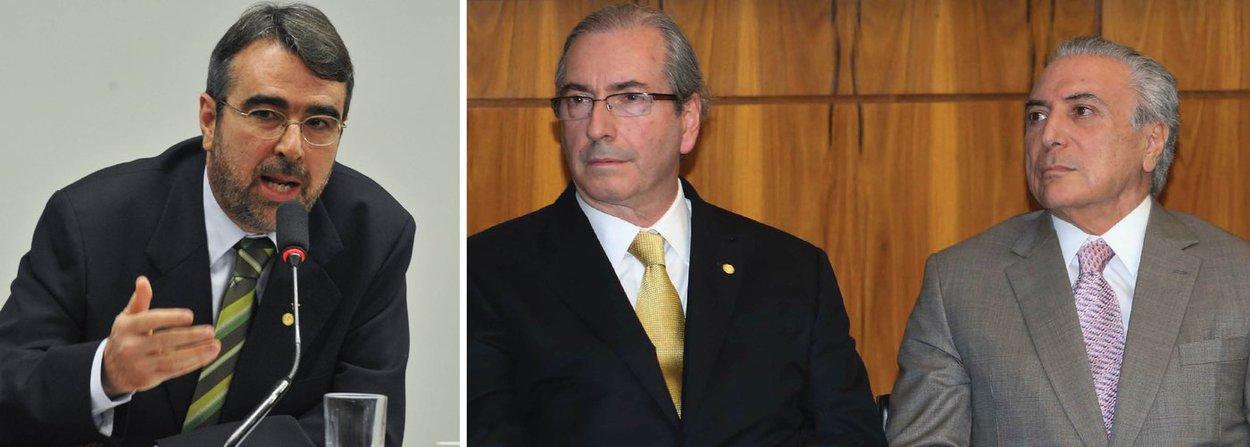 """O deputado Henrique Fontana (PT-RS) bateu duro no vice-presidente Michel Temer e disse que ele """"é sócio do projeto de corrupção de Eduardo Cunha"""";""""Tomara que o Senado Federal segure esse crime contra a democracia brasileira. Vamos trabalhar muito para frear esse golpe"""", disse ainda"""