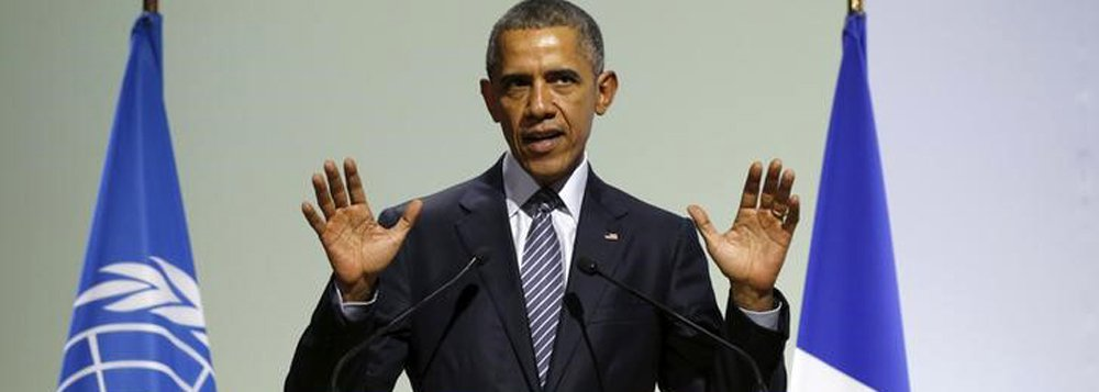 Obama, na COP-21, em Paris 30/11/2015 REUTERS/Kevin Lamarque