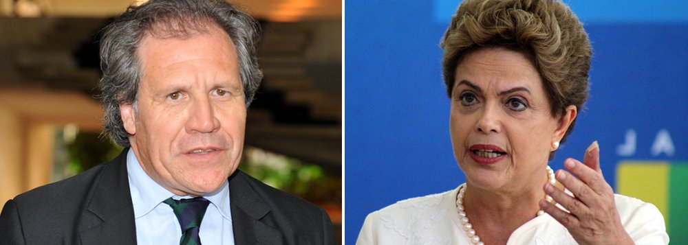 """Ao defender a continuação da Lava Jato, secretário-Geral da Organização dos Estados Americanos (OEA), Luis Almagro, disse que nenhum magistrado está acima da lei e que o Estado de Direito requer que todos sejam responsáveis e iguais perante a lei: """"A democracia não pode ser vítima do oportunismo, mas deve ser sustentada pelo poder das ideias e da ética""""; ele defendeu também o mandato da presidente Dilma Rousseff e criticou as tentativas de tirá-la do cargo sem fundamento jurídico, como o processo de impeachment iniciado na Câmara: """"Qualquer deterioração da sua autoridade deve ser evitada, de onde quer que venha"""""""