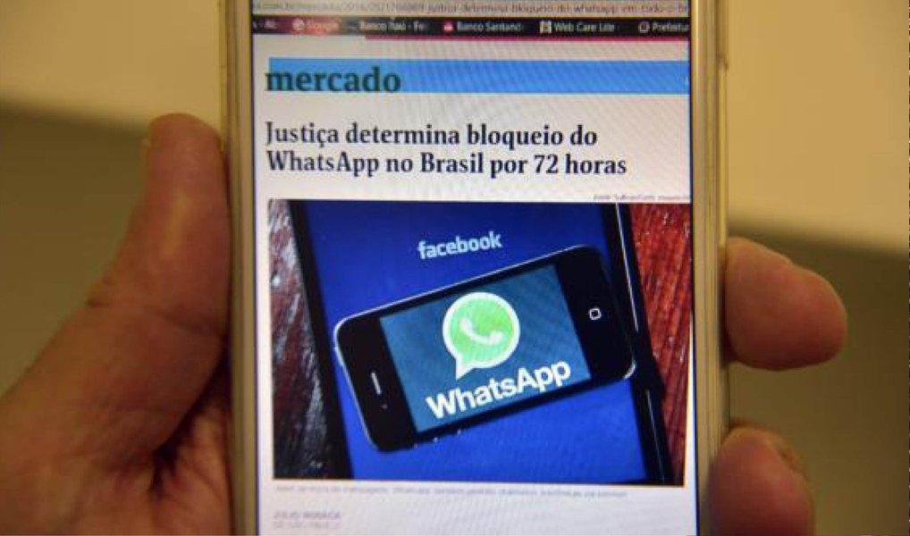 """Em nota, a empresa afirma cooperar com a Justiça brasileira, reforça não ter as informações que querem forçá-los a entregar e diz que a decisão pune mais de 100 milhões de brasileiros """"que dependem do nosso serviço para se comunicar, administrar seus negócios e muito mais"""";para a Anatel, o bloqueio do aplicativo é desproporcional e pune usuários;após a decisão, a Proteste Associação de Consumidores retomou hoje a mobilização """"Não calem o WhatsApp"""""""