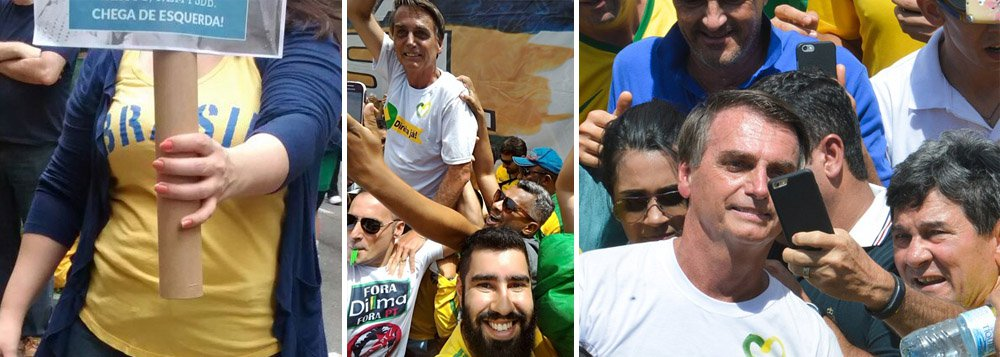 """""""Os movimentos de extrema direita que organizaram as manifestações repudiaram políticos de direita moderada, como Aécio e Alckmin, que foram escorraçados, xingados e expulsos da Paulista, mas aplaudiram Bolsonaro, que foi o queridinho da marcha de Brasília, ungido, definitivamente, como seu ídolo"""", escreve Alex Solnik, colunista do 247; segundo ele,""""a extrema-direitausou milhões de pessoas que foram às ruas como massa de manobra para seu projeto de retorno às trevas"""""""