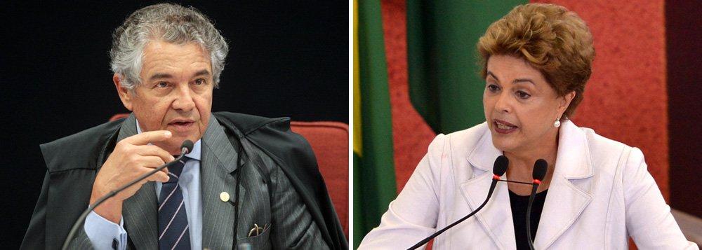 """Ministro do Supremo Tribunal Federal Marco Aurélio Mello concordou com o argumento da presidente Dilma de que se não houver crime de responsabilidade, o impeachment configura golpe; """"Acertada a premissa, ela tem toda razão. Se não houver fato jurídico que respalde o processo de impedimento, esse processo não se enquadra em figurino legal e transparece como golpe"""", afirmou; para ele, afastar Dilma do cargo não vai resolver a crise política e econômica do País; ao """"contrário"""", haverá possibilidade de conflitos sociais, acrescentou; para o magistrado, governo e oposição deveriam juntar-se para """"combater a crise que afeta o trabalhador, a mesa do trabalhador, que é a crise econômico-financeira""""; Marco Aurélio quis saber """"por que insistem em inviabilizar a governança pátria. Nós não sabemos"""""""