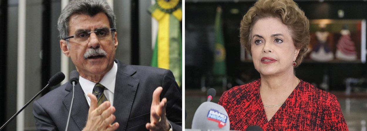 """Presidente do PMDB, o senador Romero Jucá (RR), disse, nesta terça (12), lamentar que a presidente Dilma Rousseff esteja """"perdendo a serenidade"""" e o """"equilíbrio"""" ao colocar, segundo ele, a culpa em outras pessoas dos erros cometidos pelo próprio governo; """"O governo está pagando pelos erros que cometeu. Não é o presidente Michel Temer, não é nenhum membro do Congresso que tá fazendo alguma ação deliberada"""", afirmou; segundo Jucá, a cúpula do partido está trabalhando para que a bancada na Câmara """"possa votar o mais unida possível"""" e disse esperar que o processo tenha uma rápida tramitação no Senado"""