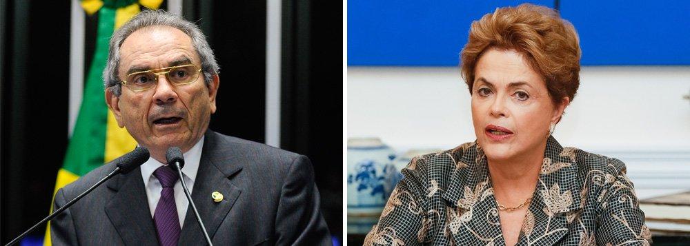 O senadorRaimundo Lira é o indicado pelo PMDB para presidir a comissão doimpeachmentno Senado; na lista estão nomes como Gleisi Hoffman e Lindbergh Farias, do PT, Cássio Cunha Lima e Antonio Anastasia, do PSDB, Ronaldo Caiado, do DEM, e Romário, do PSB