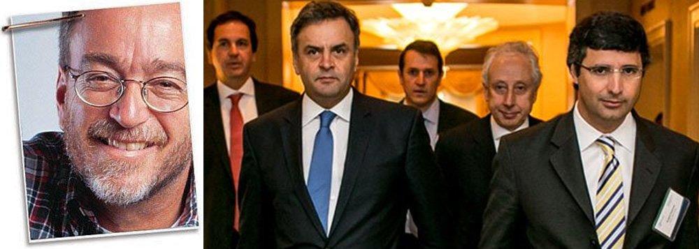 """Para o jornalista Paulo Nogueira, editor do Diário do Centro do Mundo, mídia esconde as ligações entre o banqueiro André Esteves e o senador Aécio Neves (PSDB-MG), que recebeu do empresário o pagamento da sua lua de mel em Nova York; """"Em contraste, Lula, segundo a mídia, é um homem cheio de amigos. Você é informado ubiquamente em jornais e revistas, por exemplo, que ele é amigo de um pecuarista preso na Lava Jato"""", diz Nogueira"""
