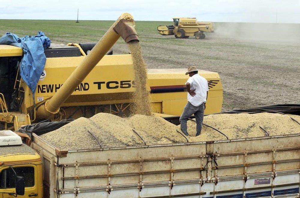 Foto de arquivo de produção de soja em fazenda no Mato Grosso. A estimativa do governo dos Estados Unidos para a safra de soja do Brasil em 2014/15 foi mantida em 91 milhões de toneladas ante previsão de julho, informou o Departamento de Agricultura n