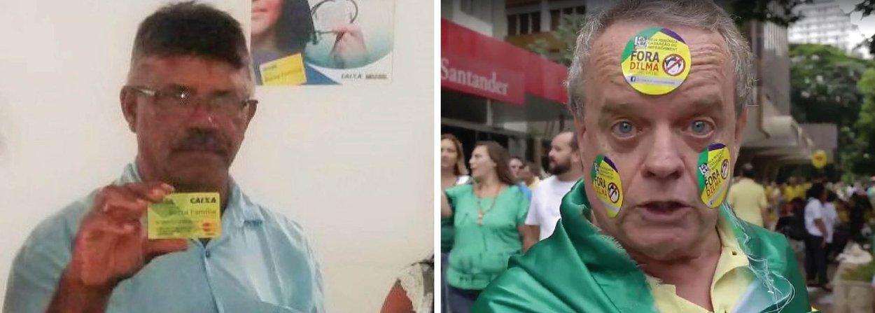 """Gari José Darci, da cidade de Colinas do Tocantins, e sua esposa Lucia procuraram a Secretaria de Assistência Social da cidade para pedir o desligamento como beneficiários do programa Bolsa Família; após anos desempregado, ele conta que conseguiu um emprego e a esposa teve a carteira de trabalho assinada, e agora o benefício pode ser repassado para outra pessoa que precisa; """"Foi muito gratificante para mim, ajudou muito"""", afirmou; durante protestos nesse domingo, 13, manifestantes pediramo fim do Bolsa Família, das cotas e dizem que a desigualdade nunca foi tão grande; """"Os pobres ficam só bebendo pinga e pondo filho no mundo. Ninguém quer trabalhar"""""""