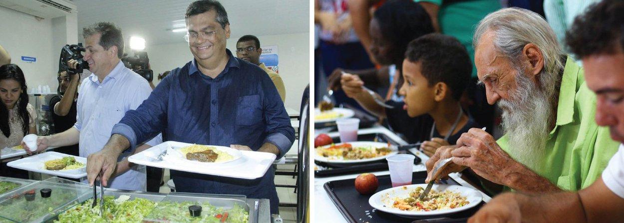 Pela primeira vez na história do Maranhão, municípios do interior do estado agora contam com restaurantes populares; o governador Flávio Dino esteve na Região do Médio Mearim, para inaugurar os equipamentos de segurança alimentar e nutritiva nas cidades de Pedreiras e Lago da Pedra; restaurantes populares de Pedreiras e Lago da Pedra vão ofertar alimentação nutritiva ao preço simbólico de R$ 2,00 e distribuir 1.100 refeições diárias, no almoço, e 550 no jantar;a agenda do Governo contou também com a inauguração do novo quartel do Corpo de Bombeiros Militar do Maranhão (CBMMA) de Trizidela do Vale