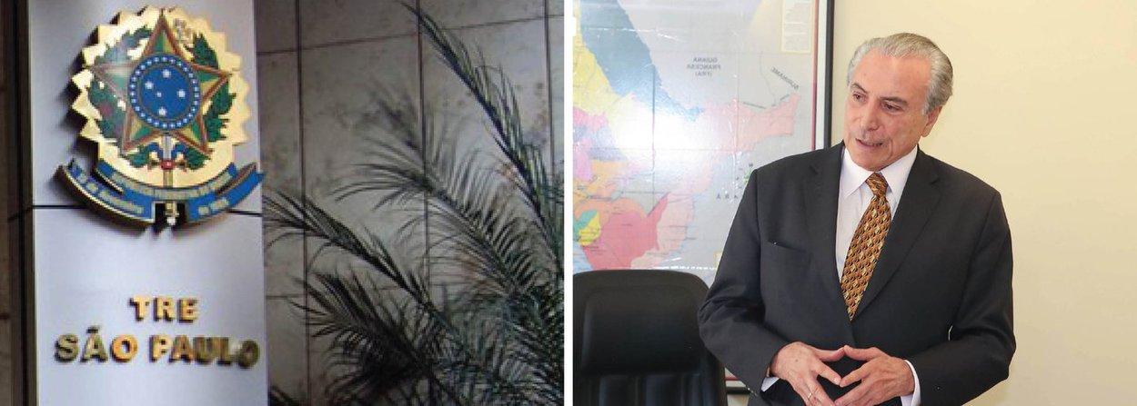 """A Procuradoria Regional Eleitoral de São Paulo emitiu nota na qual presta esclarecimentos sobre a inelegibilidade causada por doações acima do limite estabelecido; o Tribunal Regional Eleitoral de São Paulo multou o vice-presidente Michel Temer (PMDB) por ter feito doação de R$ 100 mil a dois candidatos, valor acima do que ele podia doar; """"ALei da Ficha Limpa estabelece a inelegibilidade de candidatos como consequência da condenação em ação de doação acima do limite proferida por órgão colegiado ou transitada em julgado. O prazo da inelegibilidade é de 8 anos"""", diz a nota da PRE"""