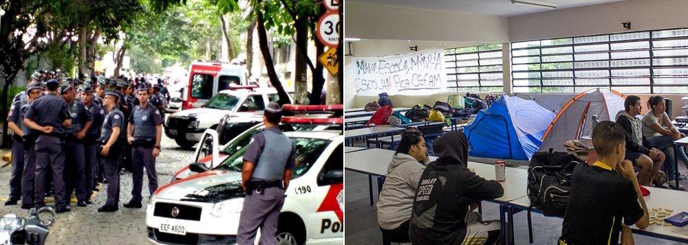 """Juiz José Eduardo Marcondes Machado determinou prazo de 24 horas para a desocupação, podendo ser aplicada multa diária de R$ 50 mil ao Sindicato dos Professores do Ensino Oficial no Estado de São Paulo (Apeoesp) em caso de descumprimento; diz que a ocupação das unidades """"resultou na interrupção das atividades escolares desenvolvidas no local, em prejuízo dos alunos regularmente matriculados"""""""