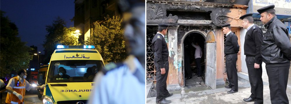 Um coquetel molotov atirado em um restaurante no Cairo matou 16 pessoas e deixou outras duas feridas;restaurante, que também é um clube noturno, fica em um porão e não possuía saídas de emergência, de acordo com as autoridades; segundo a polícia, o agressor era um funcionário que foi demitido do estabelecimento