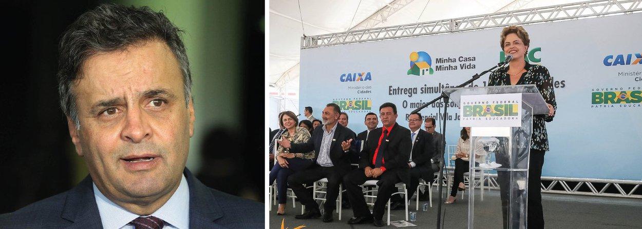 """""""O PSDB amanhã entra com ação na PGR para impedir que a presidente continue a utilizar estrutura do governo para defender-se das acusações que a ela são feitas em relação ao impeachment. O PT sempre teve enorme dificuldade de diferenciar aquilo que é publico daquilo que é privado, aquilo que é publico daquilo que é partidário"""", disse o senador Aécio Neves (PSDB-MG) nesta tarde; depois de tentar, em parceria com Eduardo Cunha (PMDB-RJ), um golpe baseado em acusações que ainda não foram julgadas pelo Congresso (as chamadas 'pedaladas' de 2014 e 2015), Aécio quer que Dilma seja proibida de se defender;nesta noite, ele reúne governadores tucanos e o ex-presidente FHC para lançar a frente da ilegalidade; no campo da lei, 16 governadores já se posicionaram contra o golpe"""