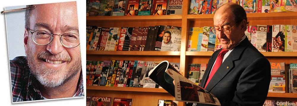 """""""Pouco depois da posse de Lula, em 2003, a Veja de ROberto Civita abandonou o jornalismo para se transformar num instrumento de propaganda do antipetismo fanático. Segundo o jornalista Ricardo Kotscho, que participou da primeira equipe de Lula, o motivo da atitude de RC foi o dinheiro"""", diz Paulo Nogueira, do DCM; ele cita, neste processo, o então diretor de redação, Eurípides Alcântara, e os colunistas: Diogo Mainardi, na edição impressa, e Reinaldo Azevedo, no site; """"Mainardi e Azevedo inauguraram a era do jornalismo patronal e plutocrático na Veja. O maior talento de ambos era e é atacar sistematicamente Lula e o PT"""""""