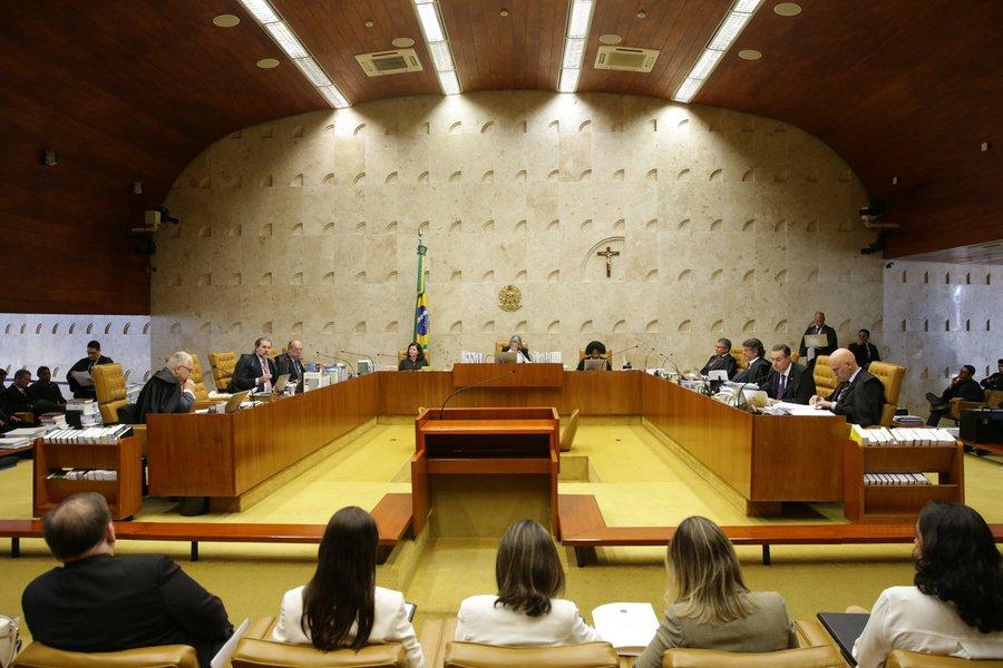 Sessão do Supremo Tribunal Federal (STF) para julgamento sobre a restrição ao foro privilegiado.