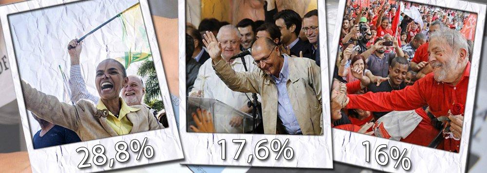 Levantamento feito pelo Instituto Paraná Pesquisas aponta que a ex-ministra Marina Silva (Rede) lidera a corrida presidencial no estado do Rio de Janeiro, com 28,8% das intenções de voto; governador de São Paulo, Geraldo Alckmin (PSDB), aparece em segundo lugar com 17,6% e em terceiro o ex-presidente Luiz Inácio Lula da Silva com 16%