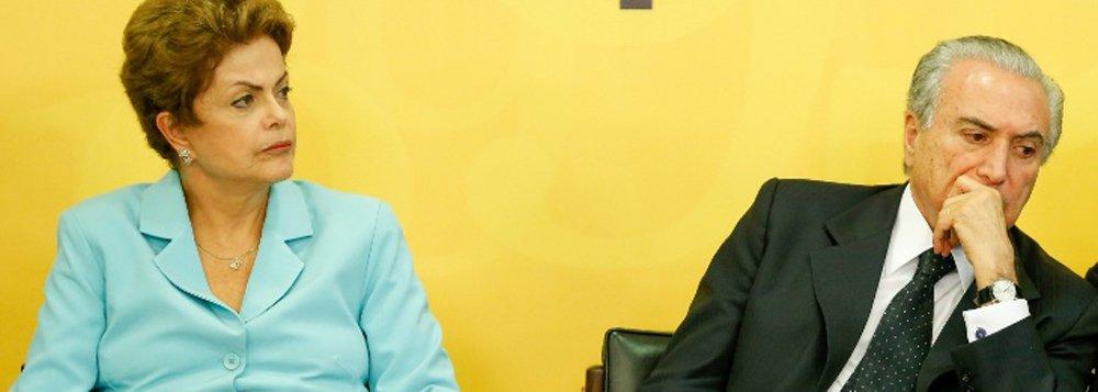 """Presidente fez a declaração durante reunião com o ministro da Comunicação Social, Edinho Silva, nesta manhã; """"Eu não só sempre confiei no Michel Temer como continuo confiando"""", disse, em resposta ao que afirmou o vice-presidente a interlocutores;""""Ela nunca confiou em mim"""""""