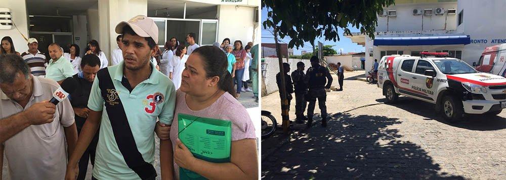 Pânico, correria e um vigilante ferido durante uma tentava de assalto nas dependências do Hospital Escola Dr. Helvio Auto, em Maceió; dois homens armados entraram na unidade abordando pacientes em busca de objetos pessoais; guarnições do Batalhão de Polícia de Radiopatrulha (BPRV), do Batalhão de Operações Policiais Especiais (Bope) e do 1º Batalhão de Polícia Militar foram acionados