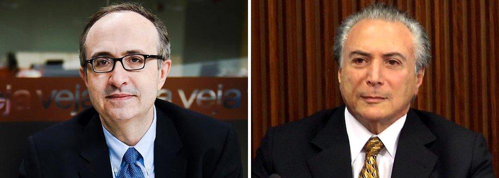 """Colunista Reinaldo Azevedo """"derruba"""" o governo Dilma Rousseff, antes mesmo do início do processo de impeachment no Congresso, e diz que Michel Temer """"deu início a seu mandato""""; """"Não é a primeira vez que um vice assume em razão do impedimento do titular. Em 1992, a queda de Collor e a ascensão ao poder de Itamar Franco fizeram um bem imenso ao Brasil. Sem esse evento fundador, não teria existido o Plano Real', afirma"""