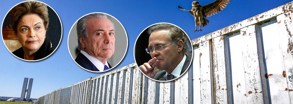 """""""Qualquer que seja o resultado da votação do processo de impeachment neste domingo, o Brasil ainda não terá encontrado uma solução definitiva para seus problemas políticos, que arrastam a economia para a mais profunda depressão de sua história"""", diz Leonardo Attuch, editor do 247; segundo ele, """"oBrasil de hoje se vê entre a ingovernabilidade de Dilma e a ilegitimidade de Temer""""; por isso mesmo, argumenta, será cada vez mais importante o papel do senador Renan Calheiros (PMDB-AL), que sonha com o parlamentarismo"""