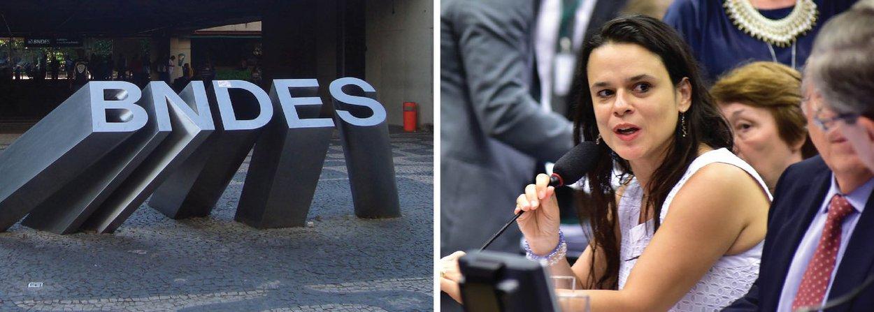 """Em nota, o BNDES contesta as declarações da advogada Janaína Paschoal à comissão que discute o impeachment na Câmara: """"O BNDES lamenta a demonstração de falta de informação e as ilações incorretas em relação ao banco feitas durante o depoimento""""; segundo a nota, o BNDES não envia recursos para fora do país e não possui operações sigilosas"""