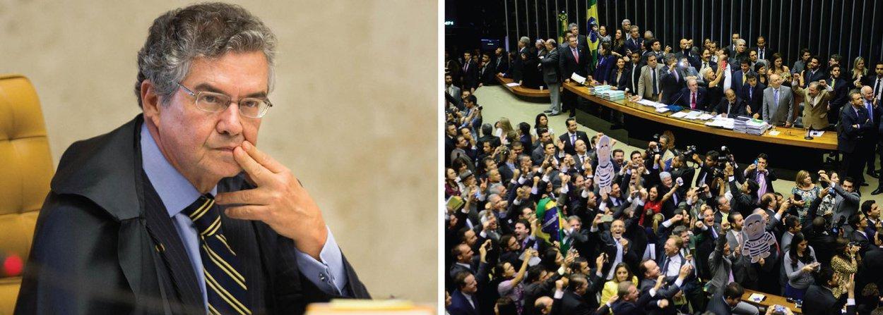 """Ministro Marco Aurélio Mello, do Supremo Tribunal Federal (STF), afirmou nesta quarta-feira, 9, que foi correta a decisão do colega Luiz Edson Fachin de suspender a tramitação do impeachment da presidente Dilma Rousseff na Câmara; ele negou que seja interferência do Judiciário na Câmara; """"É é tempo de observar-se o império da lei"""", disse Marco Aurélio; o ministro Luís Roberto Barroso também reforçou a decisão de Fachin;Acho que não é interferência. Até porque a decisão dele [Fachin] foi motivada por membros do próprio Congresso ou por partidos políticos"""""""