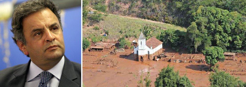 O ex-governador de Minas Gerais e atual presidente do PSDB nem cita o sagrado nome da Vale, que detém 50% da criminosa mineradora Samarco - a outra metade é da multinacional anglo-australiana BHP Billiton