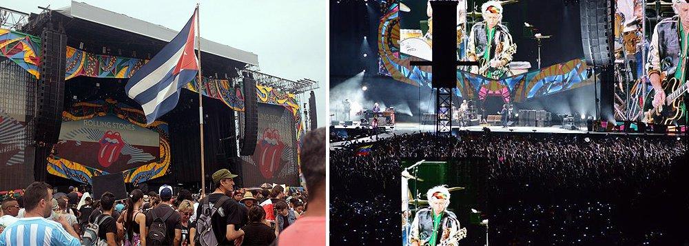 """Na apresentação, o vocalista dos Rolling Stones, Mick Jagger, disse que """"os tempos estão mudando"""". """"Sabemos que há alguns anos era difícil ouvir a nossa música em Cuba, mas aqui estamos nós"""", afirmou Mick Jagger, em espanhol"""