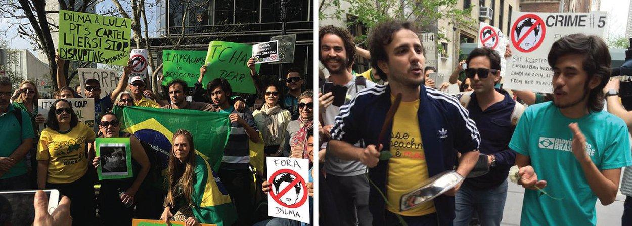 O coordenador nacional do Movimento Brasil Livre (MBL) Rubens Nunes disse que o movimento não divulga o nome dos doadores sem a permissão deles; o argumento foi utilizado como justificativa para não informar quem teria supostamente financiado a viagem de Renan Santos e Kim Kataguiriaté Nova York, na semana passada, para protestarem contra Dilma, que falou em uma conferência da Organização das Nações Unidas (ONU)