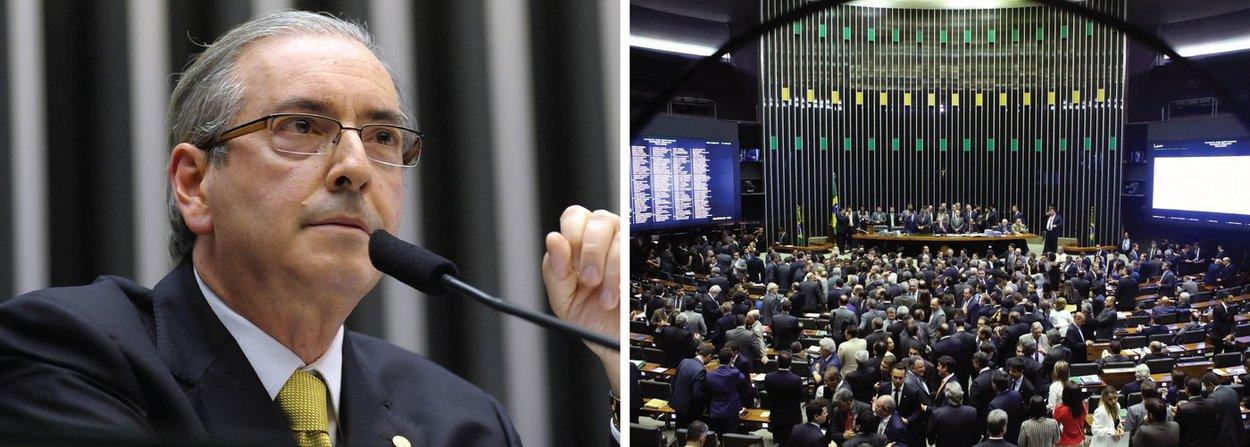 """Para o jornalista Fernando Brito, do Tijolaço, Eduardo Cunha está forçando uma votação secreta para a escolha dos integrantes da comissão do impeachment à revelia das bancadas; """"Assim, uma eventual maioria do PSDB, do DEM e de outros partidos de oposição poderão escolher os representantes do PMDB . por exemplo, na comissão"""", afirma; o jornalista lembra também que a votação está sendo secreta, """"uma decisão espúria diante do que prevê a tradição da Casa e, até, à recentíssima decisão do Ministro Luiz Fachin, do STF, que obrigou à votação aberta da licença para manter preso Delcídio Amaral"""""""
