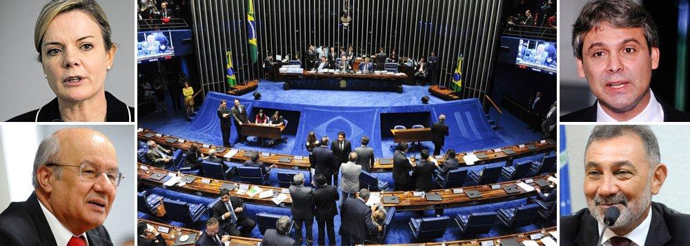 O bloco de apoio ao governo indicou nesta sexta (22), como integrantes titulares na comissão do Senado destinada à análise do processo de impeachment da presidente Dilma Rousseff, os senadores Lindbergh Farias (PT-RJ), José Pimentel (PT-CE), Gleisi Hoffmann (PT-PR) e Telmário Mota (PDT-RR)