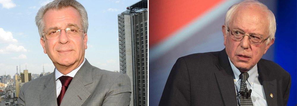 """""""Expressando-se na criminalização de Lula e Dilma, o esforço implacável para a destruição do Partido dos Trabalhadores destina-se a eliminar a principal referência - no país de hoje, nas condições de hoje, para os interesses das parcelas exploradas da população"""", escreve Paulo Moreira Leite, ao criticar a comparação do pré-candidato do PSDB à Prefeitura de São Paulo Andrea Matarazzo com o candidato democrata nos EUA, Bernie Sanders; para o jornalista, no Brasil de hoje """"assistimos a construção de um universo paralelo onde a política se transforma em farsa, as ideias não fazem sentido, a memória histórica é esmagada e a forma sobrevive sem conteúdo"""""""